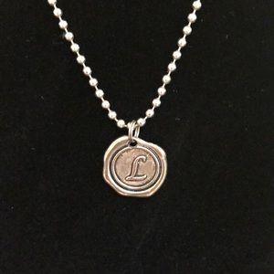 L charm necklace